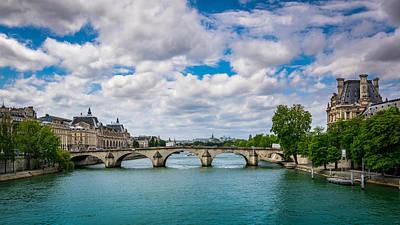 Le Pont Royal Poster by Carlo Fazio