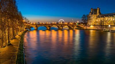 Le Pont Royal - Paris Poster by Carlo Fazio