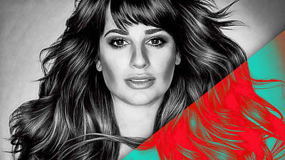 Lea Michele Collection Poster by Marvin Blaine