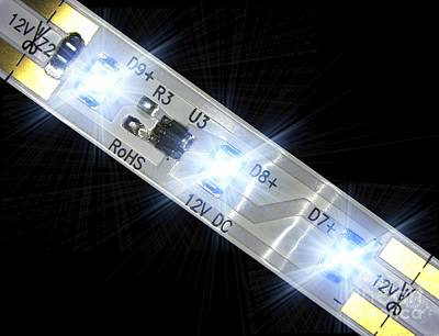 Led Light Strip, Macrophotograph Poster by Pasieka