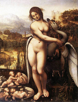 Leda And The Swan Poster by Leonardo da Vinci