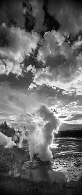 Ledge Geyser Yellowstone N P Poster
