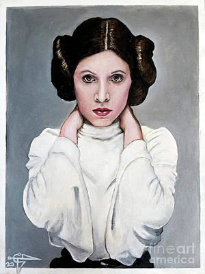 Leia Poster by Tom Carlton
