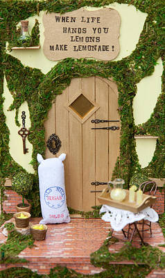 Lemons Fairy Door Poster by Kerry Ray