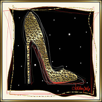 Leopard Louboutin Poster