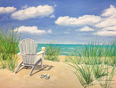 Life Is A Beach Poster by Diane Diederich