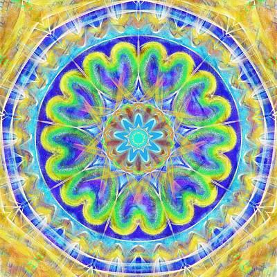 Light Mandala-texture Effect Poster