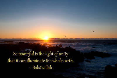 Light Of Unity Poster by Baha'i Writings As Art