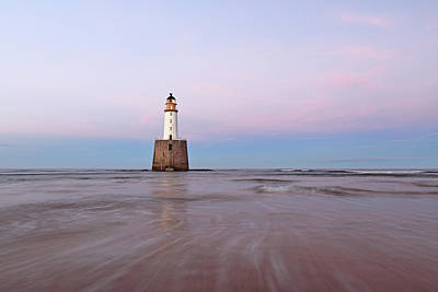 Poster featuring the photograph Lighthouse Sunset by Grant Glendinning