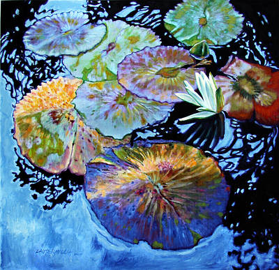Lily Pad Palettes Poster by John Lautermilch