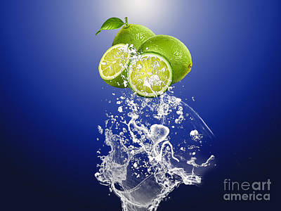 Lime Splash Poster by Marvin Blaine