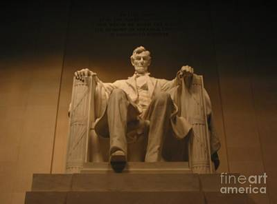 Poster featuring the painting Lincoln Memorial by Brian McDunn