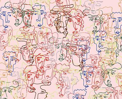line faces I Poster