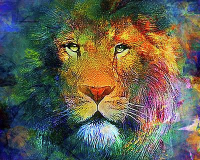 Lion Poster by Elena Kosvincheva