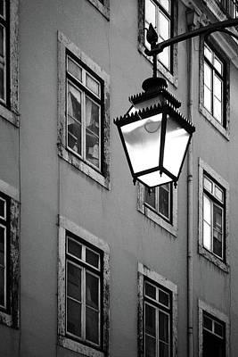 Lisbon Street Lamp Poster by Carlos Caetano