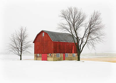 Little Red Barn Poster by Todd Klassy