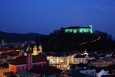 Ljubljana Castle Poster by Ian Middleton
