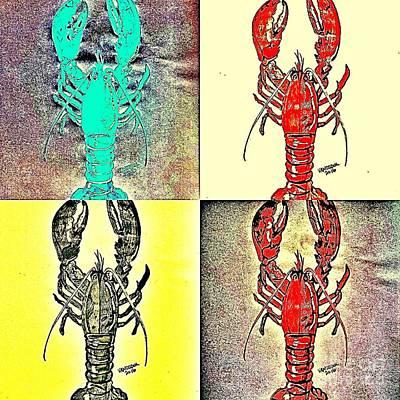 Lobster Quilt Poster by Scott D Van Osdol