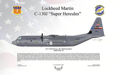 Lockheed Martin C-130j-30 Super Hercules Poster
