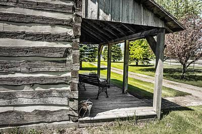 Log House With Veranda Poster by Donald  Erickson