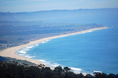 Looking Down On Half Moon Bay  Poster by Carolyn Donnell