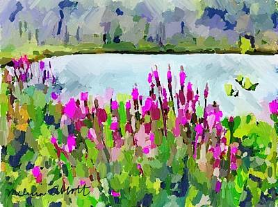 Loosestrife Blooming At Sleepy Hollow Pond Poster