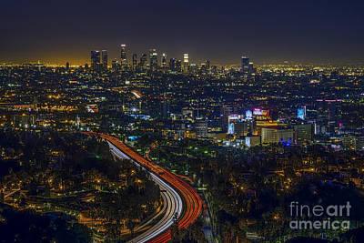 Los Angeles Sunrise Poster by Art K