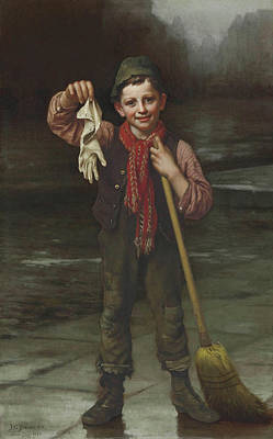 Lost And Found Poster by John George Brown
