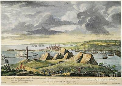 Louisbourg Siege, 1758 Poster
