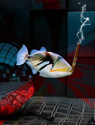 Loving Life Saltwater Triggerfish Poster