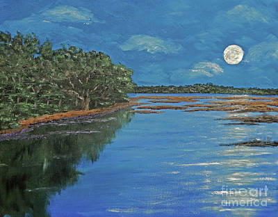 Lowcountry Moon Poster