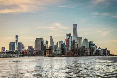 Lower Manhattan  Poster by Thomas Marchessault