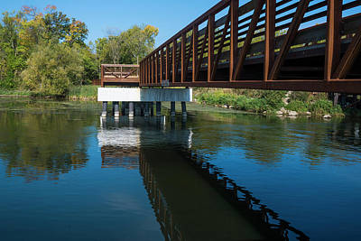 Lower Yahara River Trail 3- Madison - Wisconsin Poster
