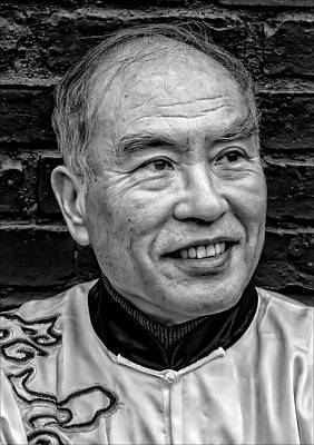 Lunar New Year Nyc 2017 Man In Traditional Dress Poster by Robert Ullmann