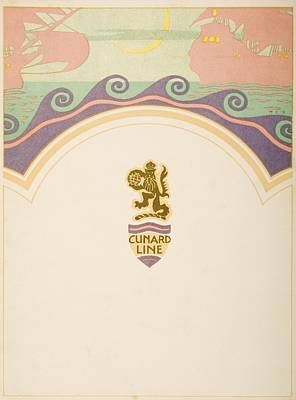 Luncheon Menu. Cunard Line. R.m.s Poster by Vintage Design Pics