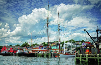 Lunenburg Harbor Poster by Rodney Campbell