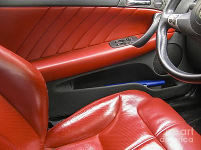 Luxury Car Interior Poster
