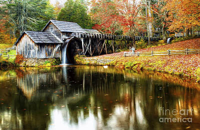 Mabry Mill Autumn Poster by Darren Fisher