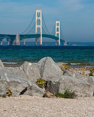 Mackinac Bridge Poster by Larry Carr