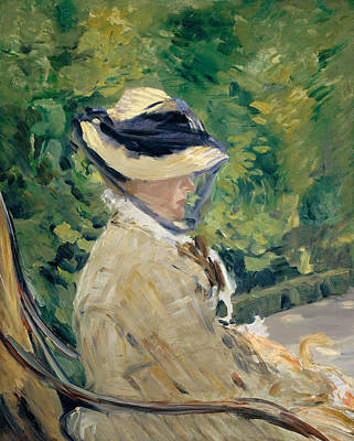 Madame Manet At Bellevue Poster