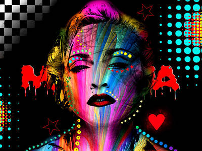 Madonna Poster by Mark Ashkenazi