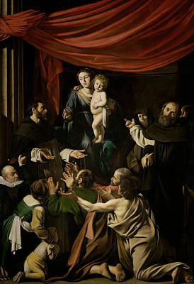 Madonna Of The Rosary  Poster by Caravaggio