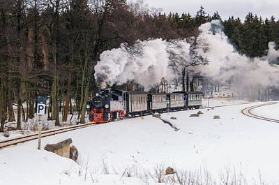 Mallet Locomotive Poster by Steffen Gierok