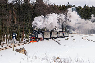 Mallet Locomotive Poster