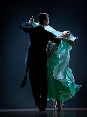 Man And Woman Dancing Poster