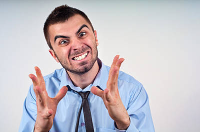 Man Expressing Frustration Poster by Boyan Dimitrov