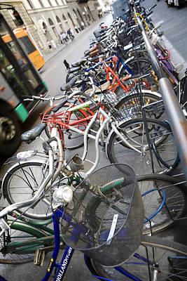 Many Bikes Poster