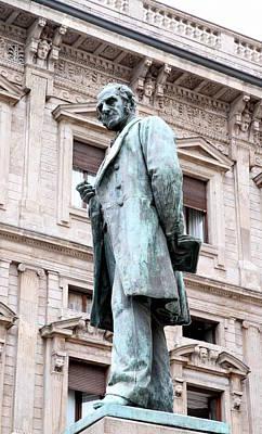 Manzoni Statue Poster by Valentino Visentini