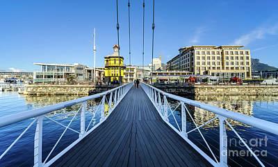 Marina Swing Bridge, Cape Town, South Africa Poster by David GABIS