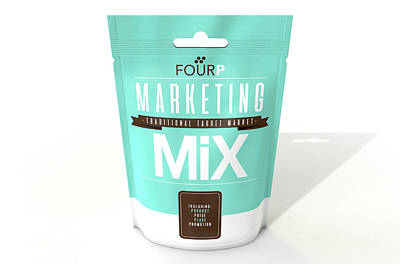Marketing Mix 4 P's Poster